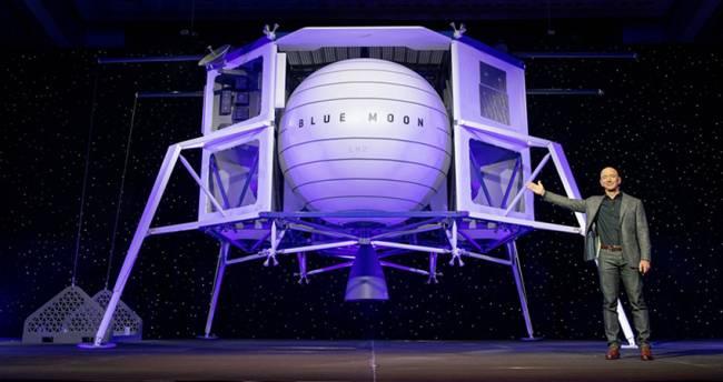 Amazon'un patronu Jeff Bezos Ay'a araç gönderecek